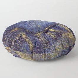 Vincent Van Gogh Starry Night Over The Rhone Floor Pillow