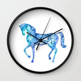 Blue horse in my dreams Wall Clock