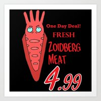zoidberg Art Prints featuring Zoidberg meat for sale by SEANLAR94