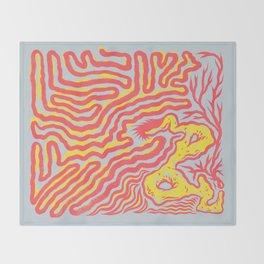 Coral Dud Throw Blanket