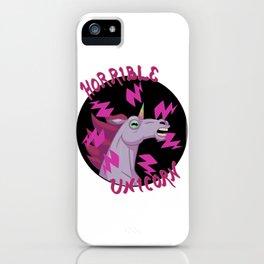 Horrible Unicorn iPhone Case