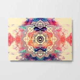 Atmospheric Mandala 037 Metal Print