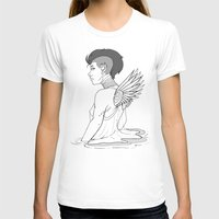 avenger T-shirts featuring Angel Hawk Avenger by Christina G. Smith