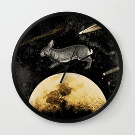 Stalking by the Hunter's moon Wall Clock
