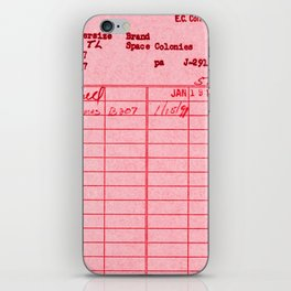 Library Card 797 Pink iPhone Skin