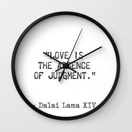 Dalai Lama quote Wall Clock