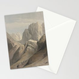 Vintage Print - The Holy Land, Vol 3 (1843) - Ascent of the Lower Range of Sinai Stationery Cards