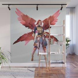 Crimson Wings Wall Mural