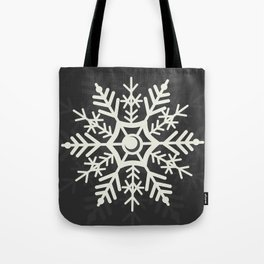 Off White Snowflake Digital Design  Tote Bag