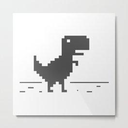 Google Dinosaur Metal Print