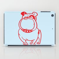 bulldog iPad Cases featuring Bulldog by drawgood