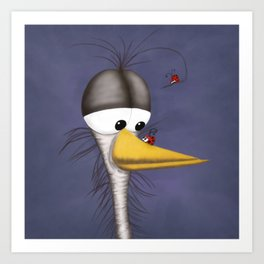 Ernie the Naked Egert and his Visitors Art Print