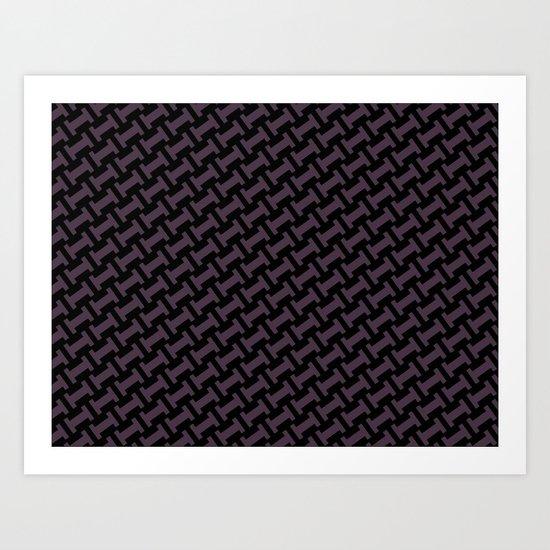 Dr. Who #11 tie pattern Art Print