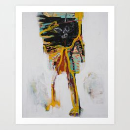 Modern Graffiti Original Painting / Small Size Expressionism Artwork / Acrylic & spray On Canvas Art Print
