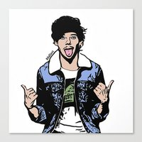 louis tomlinson Canvas Prints featuring Louis Tomlinson by 90's Class