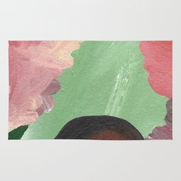 Birth - beautiful velocity, a green and red abstract Rug