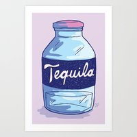 tequila Art Prints featuring Tequila by - OP -