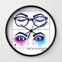 Harley Quinn. Awake for evil. Wall Clock