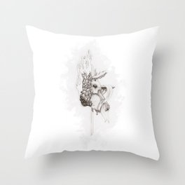 Battle Over the Soul Throw Pillow