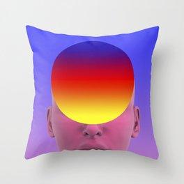 Gradient face Throw Pillow