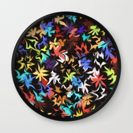 Splashes of Color Wall Clock