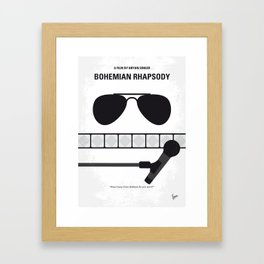 No1038 My Bohemian Rhapsody minimal movie poster Framed Art Print