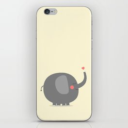 Baby Elephant Illustration iPhone Skin
