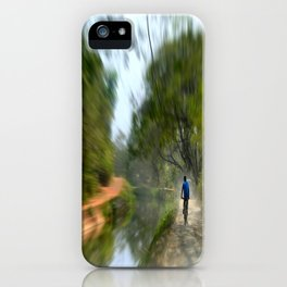 Epic Shot Cycling The Canal Route In Kerala, India iPhone Case