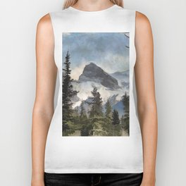 The Three Sisters - Canadian Rocky Mountains Biker Tank