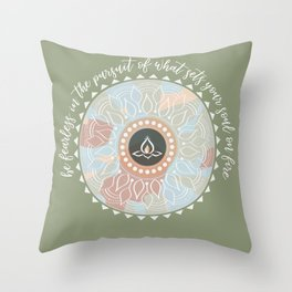 Be Fearless Quote Throw Pillow