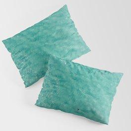 Turtle Ocean, Ocean Print, Aerial Photography, Art Print Pillow Sham
