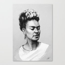 Portrait of Frida Kahlo Canvas Print