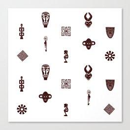 African Spirit | Pattern Art Canvas Print