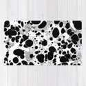 Black White Gray Monochrome Bubble Dots Spilled Ink Mess Effect by 5mmpaper