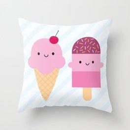 Summer Ice Cream Treats Throw Pillow