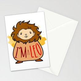 I'm a Leo Stationery Cards