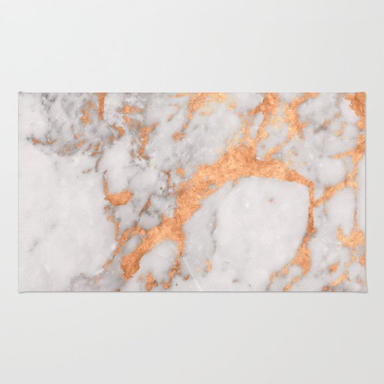 Quality Area Rugs Copper Marble Rug by Tamsin Lucie | Society6