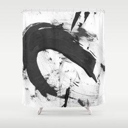 b+w strokes 6 Shower Curtain