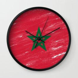 Marocco's Flag Design Wall Clock