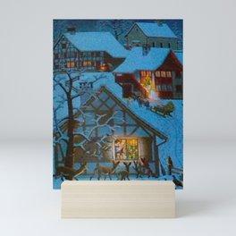 Un village à la montagne Mini Art Print