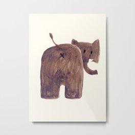 Elephant's butt Metal Print