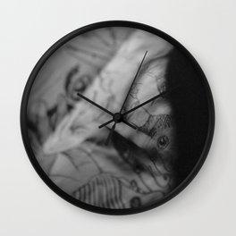 Evening of the  tattoo artist Wall Clock