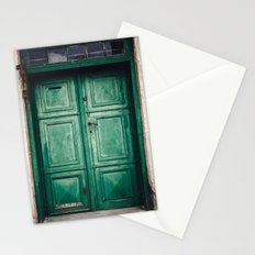 Green old door Stationery Cards