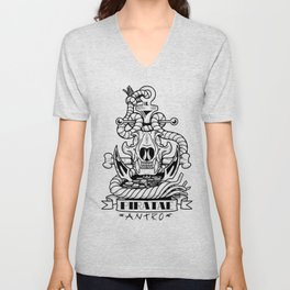 Sigil of the Anthro Pirate Unisex V-Neck