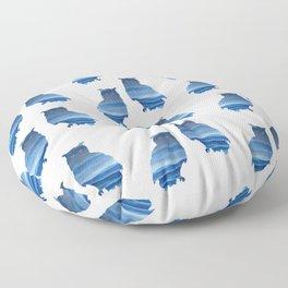 Watercolor owl art Floor Pillow
