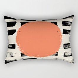 Mid Century Modern Art Print, SUN Art, Extra Large Wall Art, Mid Century Print, CIRCLE Print, Modern Rectangular Pillow