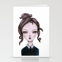 captain silva Stationery Cards featuring captain  by lily