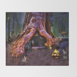 Magic in the Forest Throw Blanket