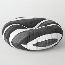 Black Rays Floor Pillow