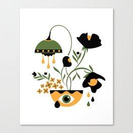 Sad Funky Flowers Canvas Print